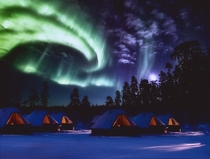 The Aurora Cabins at the Northern Lights Village Finland photo by nlafl