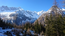 The autumn snow on Mt Dolent Valais switzerland -