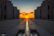 The Autumnal Equinox sunset at the Salk Institute
