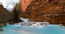 The azure waters of Beaver Falls Havasupai AZ