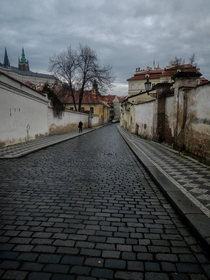 The backstreets of Prague