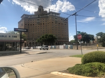 The Baker Hotel Mineral Wells Texas Currently being renovated though it sat abandoned for nearly  years Also it is allegedly haunted It must have been palace in its heyday At least it is getting a second chance it would be a shame to let such a beautiful