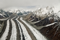 The Baltoro Glacier at  km in length is one of the longest glaciers outside the polar regions  Baltoro Glacier Gilgit Baltistan Pakistan  By Thsulemani