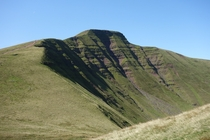 The barren peak of Pen y Fan Wales UK