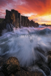 The basalt columns of Bombo Australia OC x williampatino_photography