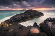 The basalt columns of Fingal Head New South Wales  By Stephen Pan