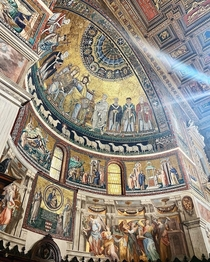 The Basilica of Santa Maria in Trastevere Rome Italy  original mosaics dating back to the th century