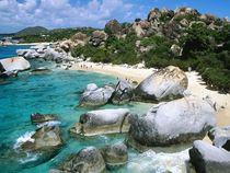 The Baths a series of caves and beaches formed by huge boulders Virgin Gorda BVI