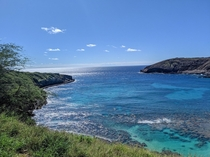 The beach was insanely crowded but I still got a good shot of the Bay Hanauma Bay Oahu HI