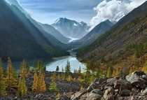 The beautiful Altai Lake in Maashey Russia Photo by Alex Klekovkin
