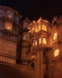 The beautiful Bagore Ki Haveli UdaipurRajasthan BharatIndia