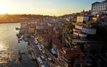 The beautiful city of Porto at sunset
