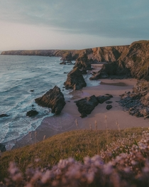 The beautiful coastline of Cornwall - Golden Hour at Bedruthan Steps  IGpete_ell