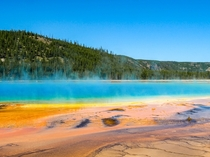 The beautiful colors of the Grand Prismatic Spring Yellowstone National Park