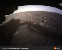 The beautiful first shot of Mars after the Perseverance landing