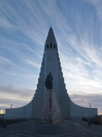 The beautiful Hallgrmskirkja Church Reykjavk Iceland