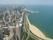The beautiful lakefront of Chicago