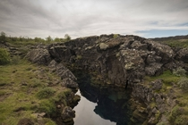 The beautiful landscape in ingvellir Iceland