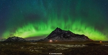 The beautiful Northern Lights near Hfn Iceland  photo by Byron Prukston - x-post rIsland