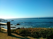 The beautiful ocean in Monterey Ca  Taken from my phone
