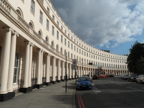 The beautiful Park Crescent London designed by John Nash in