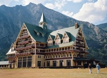 The beautiful Prince of Wales Hotel in Waterton Lakes National Park Alberta It was completed in  by the American Great Northern Railway to lure US tourists north of the border during the prohibition era