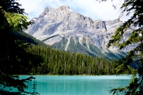 The beautiful scenery of Emerald Lake BC Canada