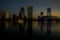 The beautiful skyline of Jacksonville Florida just before sunrise  x in comments