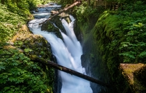 The beautiful Sol Duc Falls at Olympic National Park WA