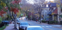 The beautiful streets of Cambridge Massachusetts in the fall