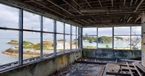 The beautiful view from the abandoned Dolphin Island Restaurant in Okinawa Japan