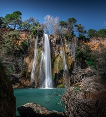 The Beautiful Waterfall of Sillans-La-Cascade in South France