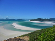 The beautiful Whitehaven Beach Australia
