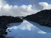 The beautifully reflective waters of Grindavk Iceland