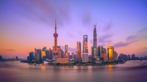 the beauty of shangai citychina