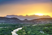 The beauty of the MexicoUnited States border as seen from Big Bend NP Texas