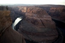 The beginning of the Grand Canyon Horseshoe Bend