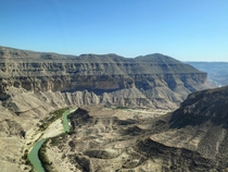The beginning of the Lower Canyons in far west Texas