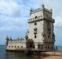 The Belm Tower built in the early th century in the Manueline style near Lisbon Portugal