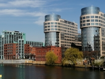the Berlin Spree river at the city -