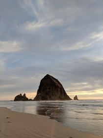 The best shot I got while on vacation last fall Haystack Rock in Cannon Beach OR