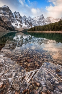 The Big freeze is beginning and the ice is starting to take over Moraine Lake  photo by Jesse McLean