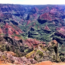 The biggest canyon in the Pacific Waimea Canyon on the Hawaiian island Kauai