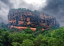 The biggest visible rock in Sri Lanka that once housed a palace on top  Sigiriya