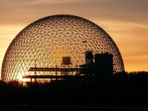 The Biosphere in Montral a museum dedicated to environment and Biomimicry The architect of the geodesic dome was Buckminster Fuller