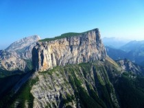 The birthplace of mountaineering The flat limestone mesa of Mont Aiguille France