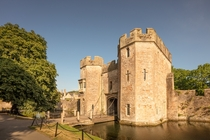 The Bishops Palace and Gardens in Wells England