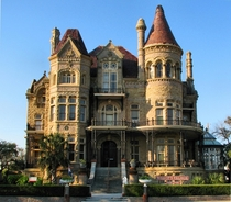 The Bishops Palace - Galveston Texas USA - Ornate Victorian built in  for lawyer and politician Walter Gresham by Galveston architect Nicholas J Clayton - Served as the residence for Bishop Christopher E Byrne  - Listed on the National Register of Histori
