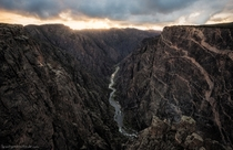 The Black Canyon of the Gunnison in Colorado is so deep and narrow some parts receive only  minutes of light per day The painted wall on the right is twice the height of the Empire State Building