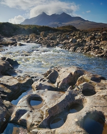 The Black Cuillin of Skye from Sligachan and also the last shot ever taken by my camera before it was destroyed  minutes later Isle of Skye Scotland UK